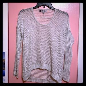 Silver sparkly knitted see-through sweater